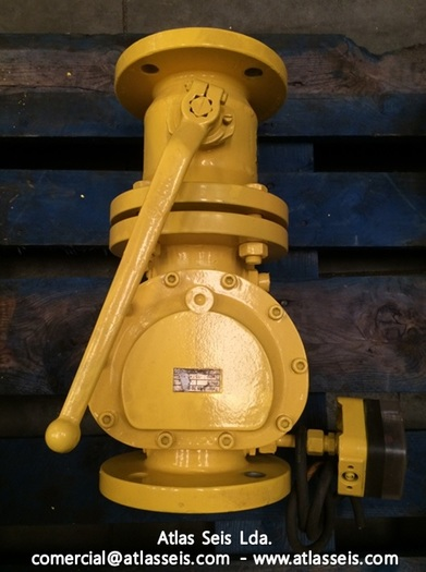 Bohmer Kugelhahne Gas Ball Valve FSK V 016.065 (DN65 PN16) with Filter and Dungs Differential Pressure Switch GW50 A4