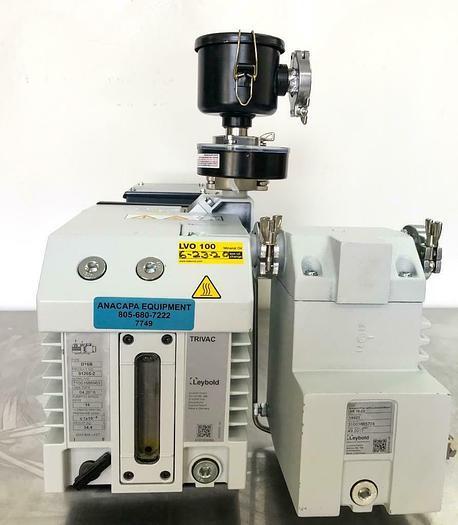 Used Leybold D16B Trivac Rotary Vane Vacuum Pump 2018, AR16-25 Exhaust Filter (7749)W