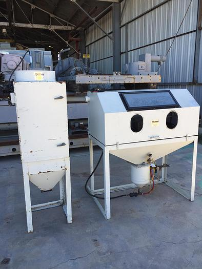 Cyclone Mdl. DP48 Blast Cabinet with Dust Collector; Mfg. 2006