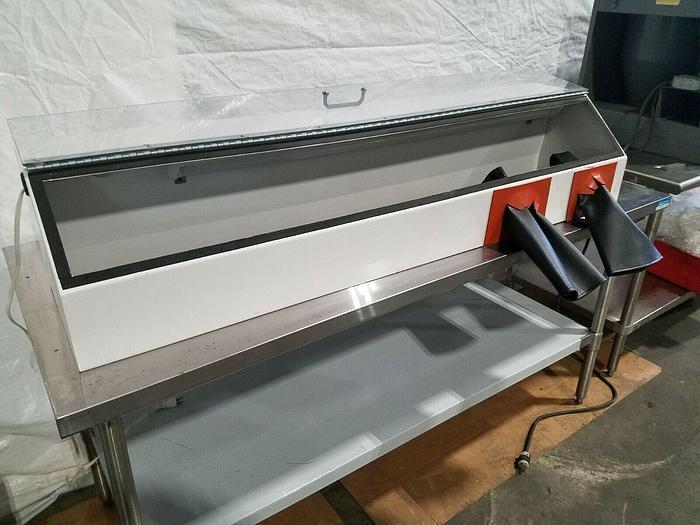 "Used Lighted Lab Fume Hood Cabinet 5 foot long x 15"" wide x 11"" high Sandblasting"