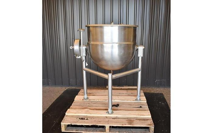 USED 40 GALLON JACKETED TANK (TILTING KETTLE), STAINLESS STEEL