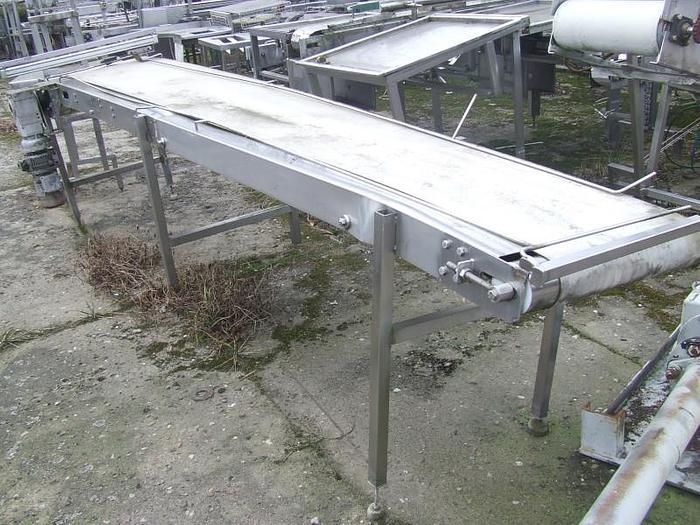 Używane Przenośnik (transporter) nierdzewny z taśmą poliuretanową