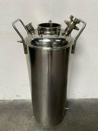 """Used Xtractor Depot Jacketed SS 316L Pressure Vessel 12""""x36"""" w/ Sight Glass"""