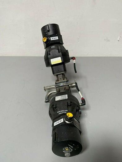 Used 2 ITT Sherotec Stainless Steel Diaphragm Valves w/ Position Monitor