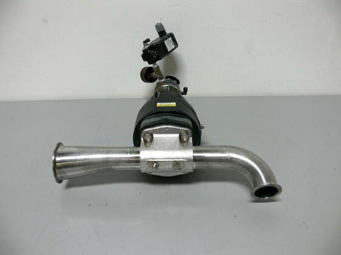 "Used ITT Pure-Flo Diaphragm Actuator 2"" & 3"" Sanitary w/ Conoflow GT2108ED Transducer"