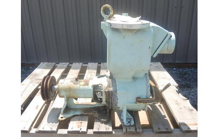 "USED CENTRIFUGAL PUMP, 3"" X 3"" INLET & OUTLET, CARBON STEEL, SELF-PRIMING"