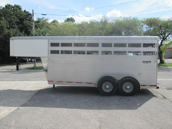 Used 2007 Shadow Aluminum Stock Trailer