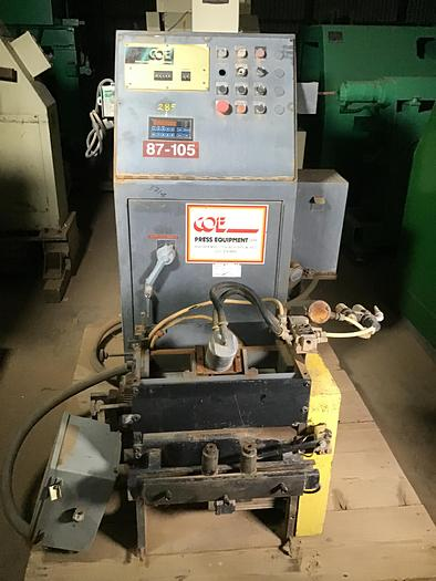 Used C.O.E. 12 In. x 12 Ga. Servo Feeder
