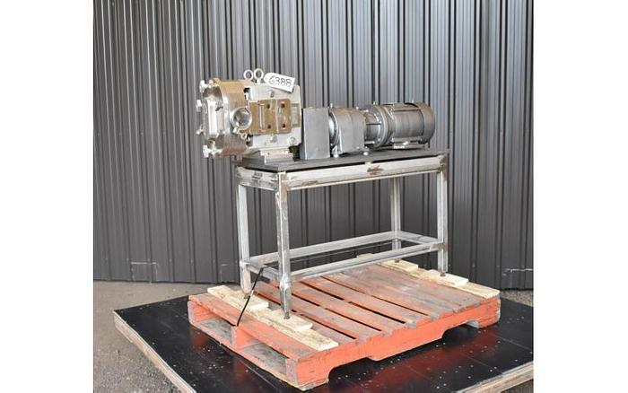 Used USED AMPCO ROTARY LOBE PUMP, MODEL ZP1, STAINLESS STEEL, SANITARY