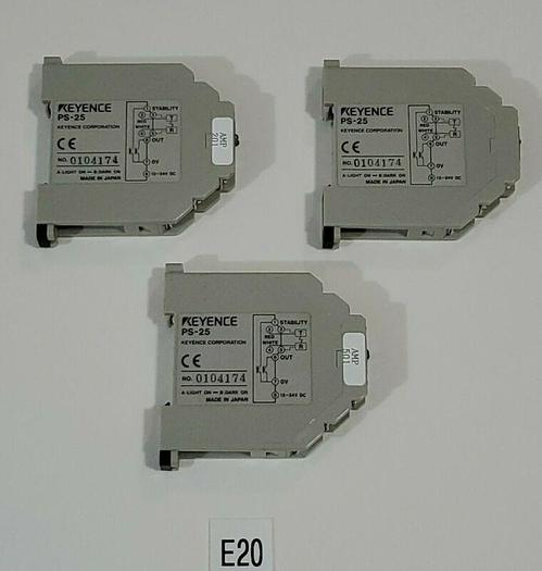 Used *PREOWNED* LOT OF 2 Keyence PS-25 Photoelectric Sensor Amplifier Unit DC Type
