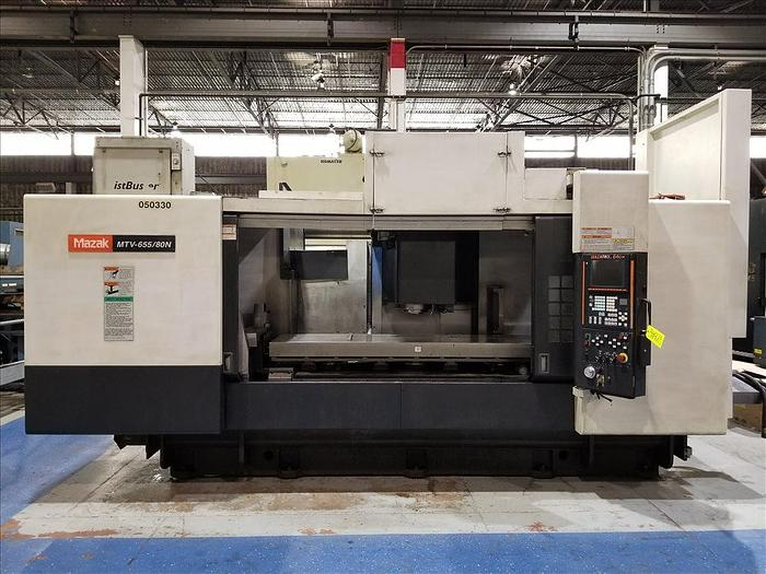 Used 2005 MAZAK MTV 655/80N CNC VERTICAL MACHINING CENTER W/ APC