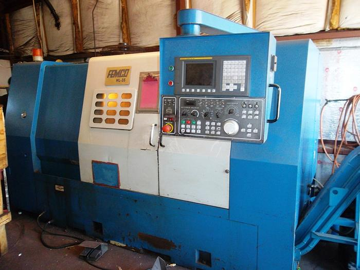 Used Femco HL-35 2 Axis Slant Bed CNC Lathe (2008)