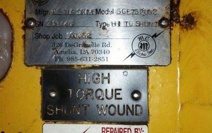 GE Top Drive 5GE752 motor