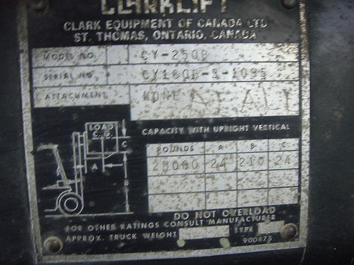 Used Clark CY250B