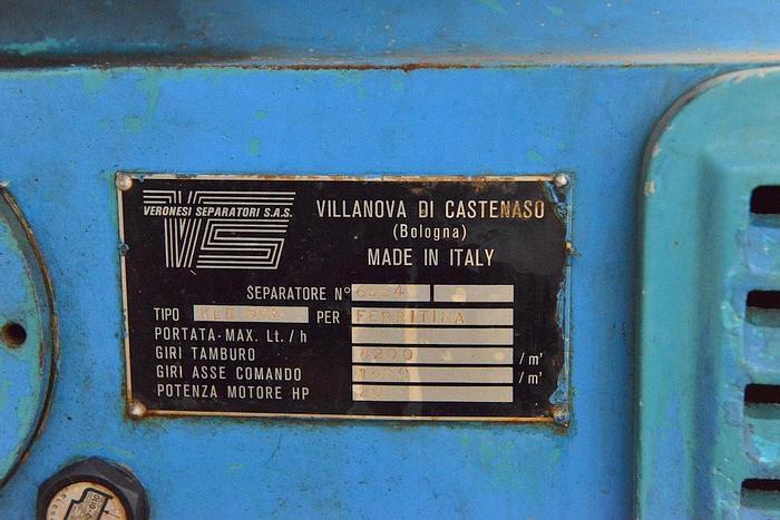 Usata Centrifuga a dischi Veronesi KLE600