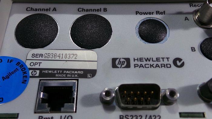 Used Hewlett Packard E4418B EPM Series Power Meter, E4418B / Line ~ 50-440Hz / 100Vac~240Vac / 50VA / Fuse: 250V, F3.15AH /