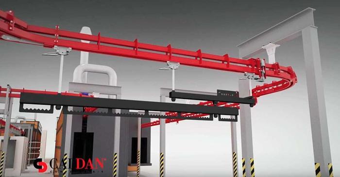 2011 CALDAN A/S Denmark Power and Free overhead conveyor Caldan P&F400