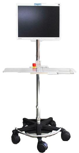 Used Ergotron Mobile Work Stand Rolling Computer Stand & Samsung SyncMaster 213T 5788