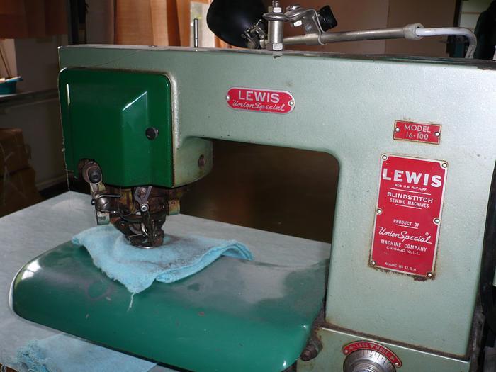 Gebraucht Etiketten-Annähmaschine LEWIS  16-100