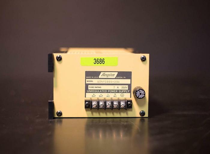 Used Acopian U24Y1000-230 Unregulated Power Supply (3686)