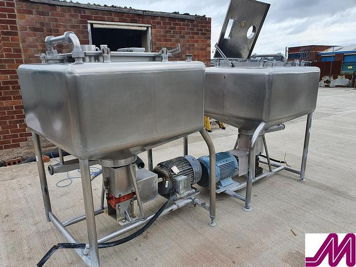 Used Stainless Steel Mix Tank with Bottom Entry High Shear Mixer