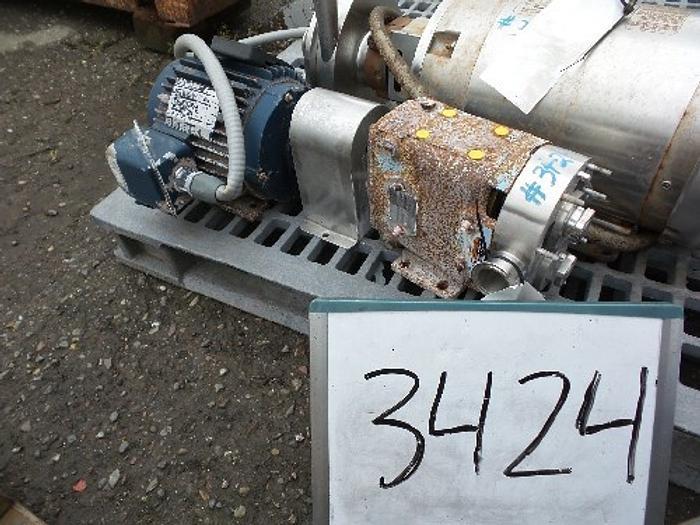 Used Waukesha Model 018 Positive Displacement Pump