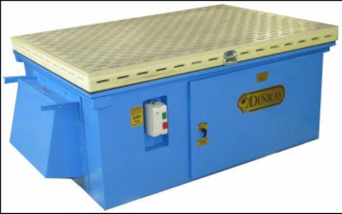 Used Denray 7200 Downdraft Table