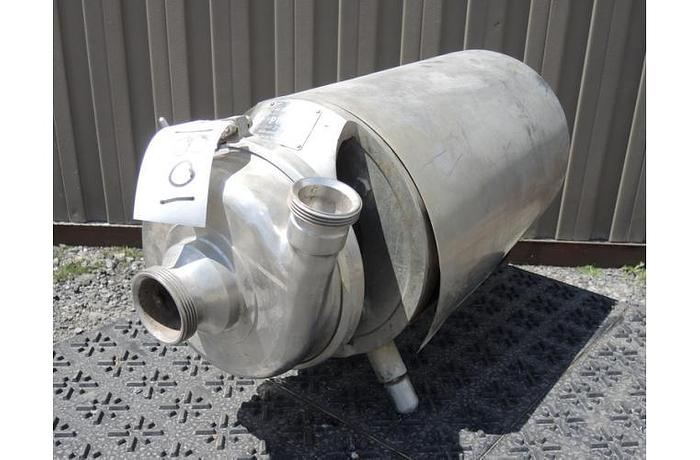 """Used USED CENTRIFUGAL PUMP, 2"""" X 2"""" INLET & OUTLET, STAINLESS STEEL, SANITARY"""