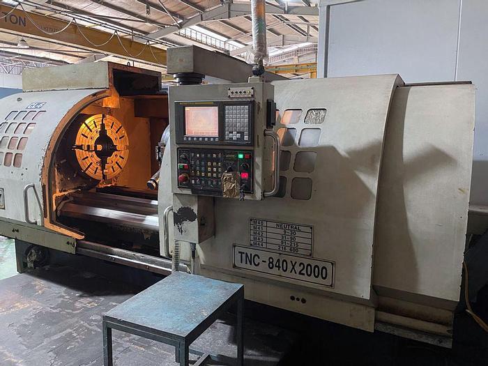 Used USED MYDAY CNC LATHE TNC 840 X 2000