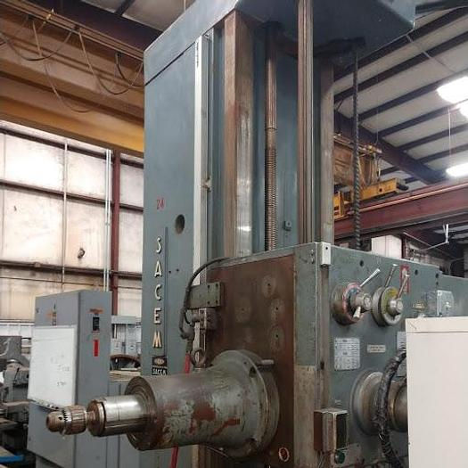 "4"" Sacem Horizontal Boring Mill-T, X-79, Y-59"", Z-27"", Table 48"" x 62"", 1200 rpm, ID17579"