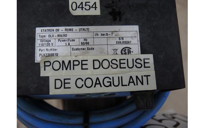 USED METERING PUMP, 3.38 USG/HOUR, 100 PSI
