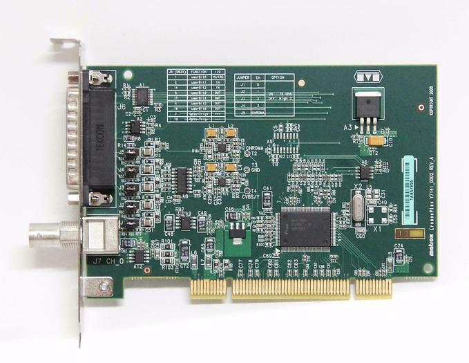 Used Matrox CronosPlus Y7141_0002 Rev_A TAB57855 Frame Grabber Card (4293)