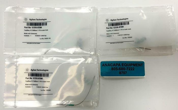 Agilent Technologies G1316-87300 Capillary, 0.17x90mm 1/16 in. Lot of 3 (8707)W