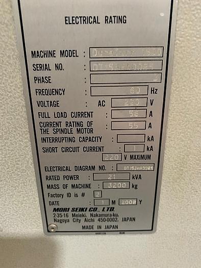 2008 Mori Seiki  Duraturn 1530 CNC Turning Center