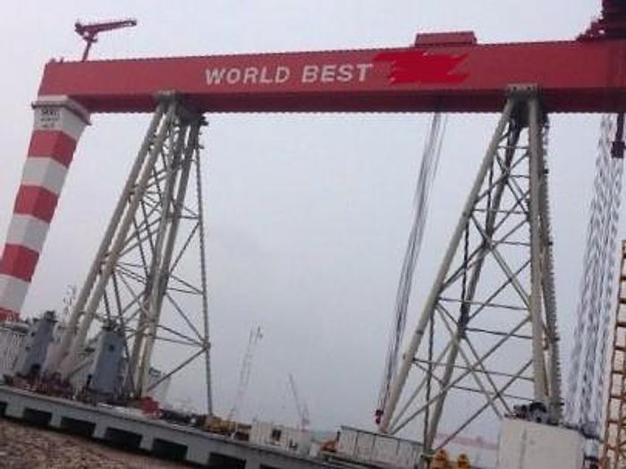 Used 900 Tonne Capacity Shipyard Gantry Crane