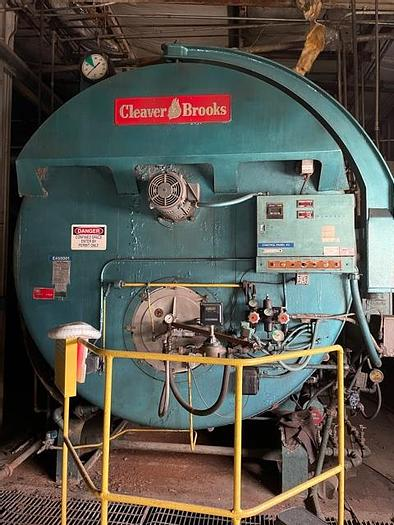 Used Cleaver Brooks 1975 500 HP 300 PSI steam Boiler