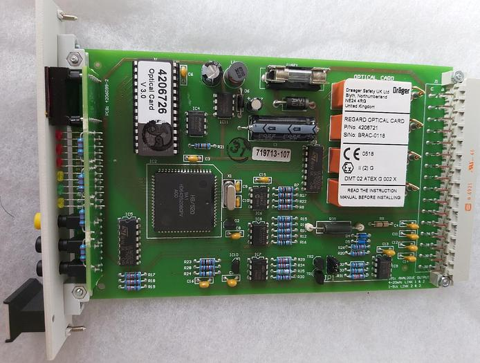 Regard Atex optical card, Brac 0118, 4206721, Dräger,  neu, originalverp,