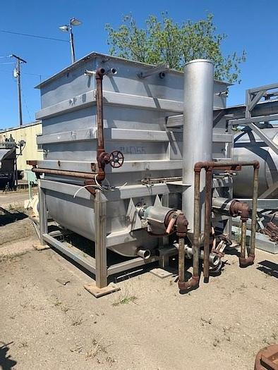Used L&A Process System Inc 40 Ton Dual Coil Rotary Hot Break