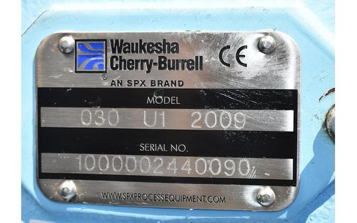 USED WAUKESHA ROTARY LOBE PUMP, MODEL 030-U1, STAINLESS STEEL