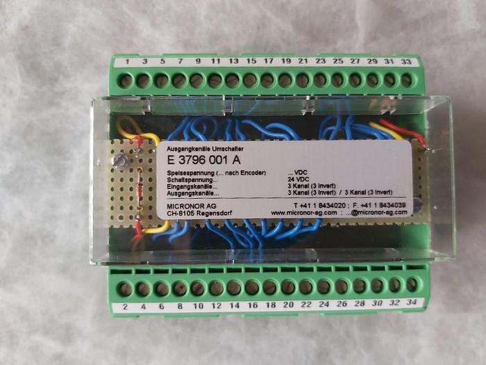 Micronor Ausgangskanäle Umschalter, E 3796 001 A, Phoenix,  neu