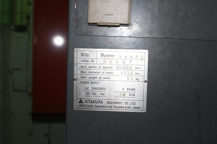 2002 Kitamura Mycenter 5X APC Vertical Machining Center
