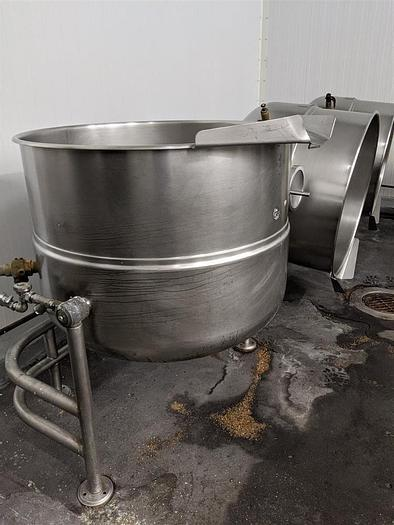 Used CLEVELAND KDL-100-T, 100 GAL. TILTING DIRECT STEAM KETTLE (#759C)