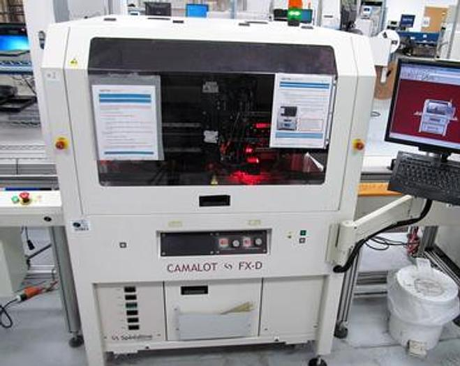 Used Camalot Speedline FXD 2010 8000-1 Inline Glue / Solder paste dispenser 635SD