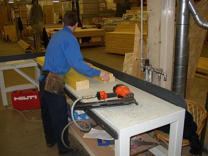 Timber Frame Range of Assembly Tables