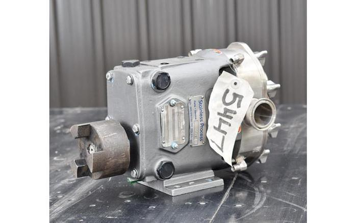 USED WAUKESHA ROTARY LOBE PUMP, MODEL 18, STAINLESS STEEL