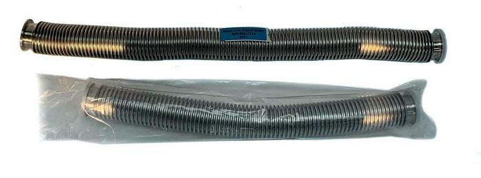 "KF40 Corrugated Bellows Flex Hose, SS, Length 28"", 20"" Lot of 2 (8607)W"