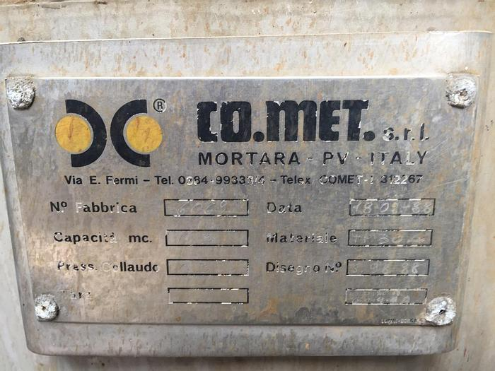 Usata Serbatoio CO.MET Srl da 250 Litri