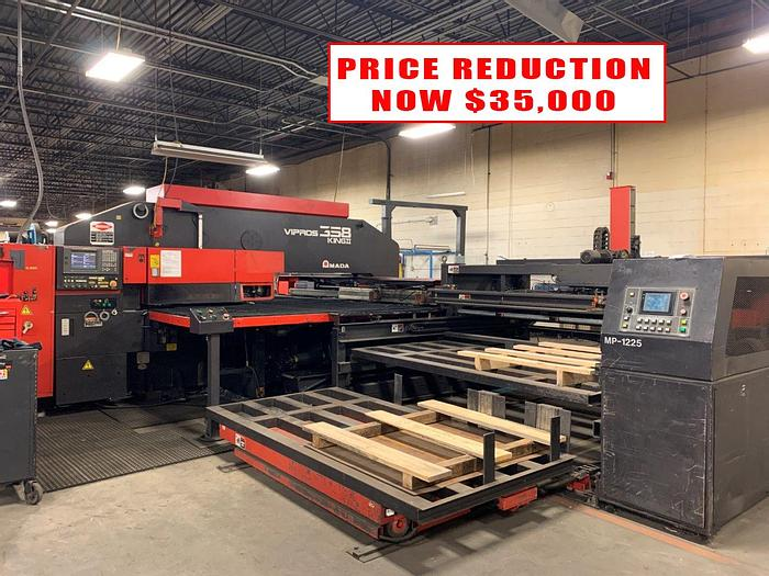 Used 1998 33 Ton Amada Vipros 358 King II CNC Turret Punch