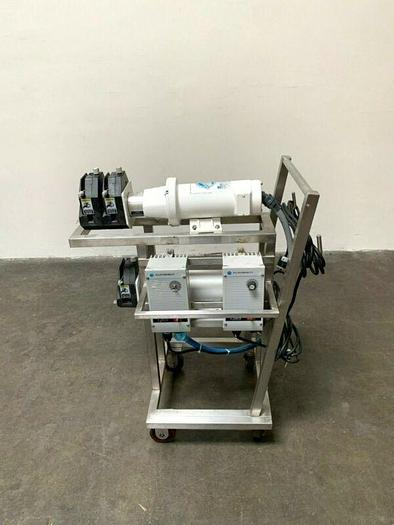 Used Double Master Flex I/P 77601-60 Peristaltic Pump Skid w/ 1/2 HP Motor & Drive