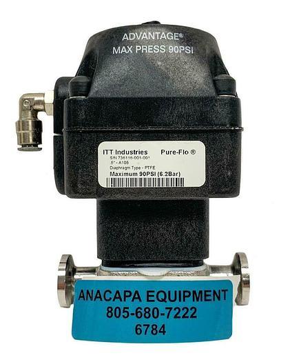 "Used ITT Pure-Flo .5"" A105 Advantage Actuator S .5-316L-RA20MAX-CWP150 (6784)W"